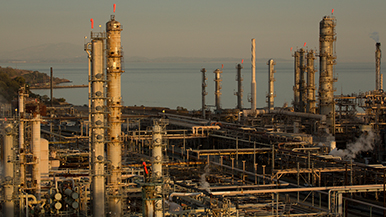 A processing unit at the Chevron Richmond Refinery.